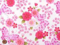 布 桜と蝶