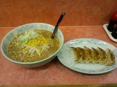 麺ハウスみそラーメンと餃子