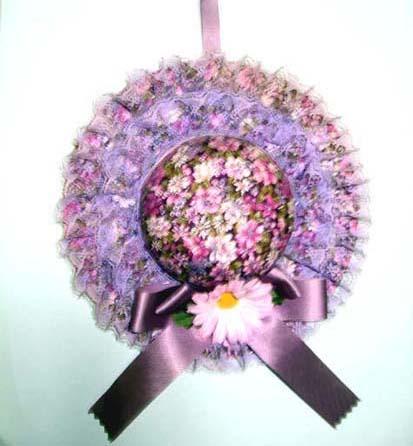 紫花の帽子