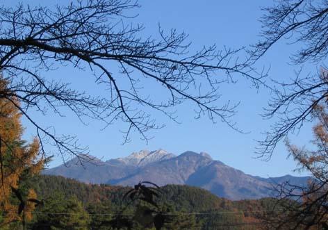 H231121八ヶ岳初冠雪