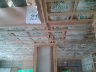 1階天井防音24Kグラスウール