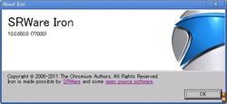 SRWare Iron 10.0.650.0 のバージョン情報