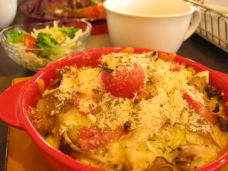 道産野菜のグラタン