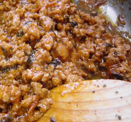 20091007ひき肉のソース