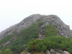 鉄平石の頂上
