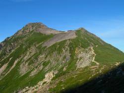 笠と笠が岳山荘