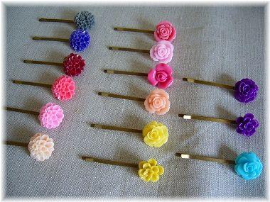 お花のヘアピン3