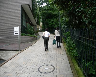 山下公園02ー坂を上る