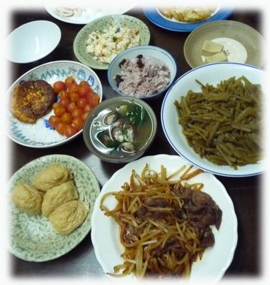 イモの茎煮とダイエット料理