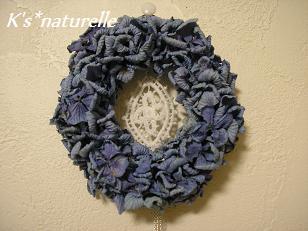 紫陽花ブルーリース2