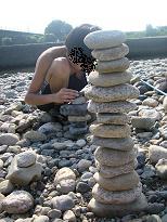 石積み競争