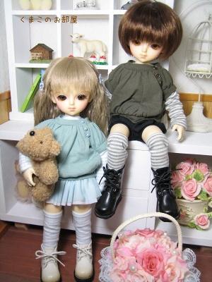 絹と木綿太(幼SDリン&シン)