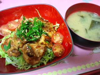 照りチキ丼~味噌マヨ風~
