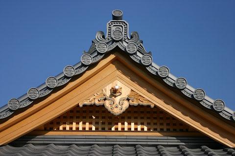 観月台の屋根