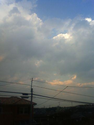 雷ゴロゴロのお空