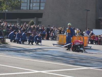 消防団、小型ポンプ操法
