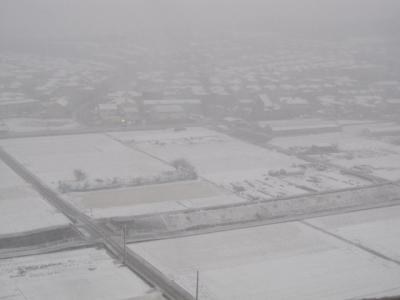 この日、雪の朝