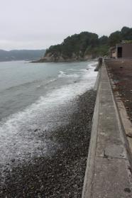 浪板海岸の防波堤