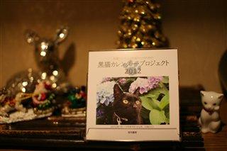黒猫カレンダー2012