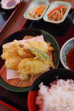 筍とメダイの天ぷら