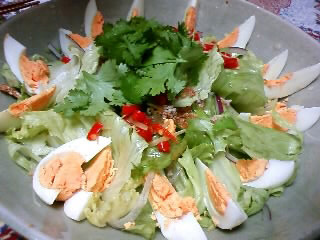 ナスと卵のサラダ