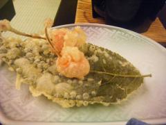 さくらんぼの天ぷら