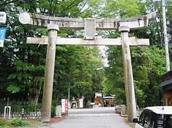 穂高神社一の鳥居