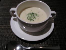 レディースディナーのスープ