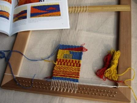 Tapestry weaving サンプル織り