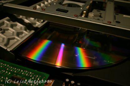 30cmディスク^が回転する