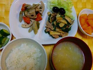 豚肉とニラとエリンギ炒め