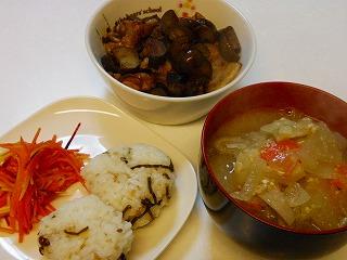 ナスとひき肉の味噌炒め