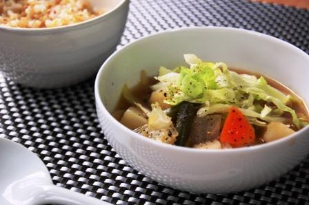 たっぷり野菜のバルサミコスープw