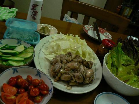 2009年8月12日夕食