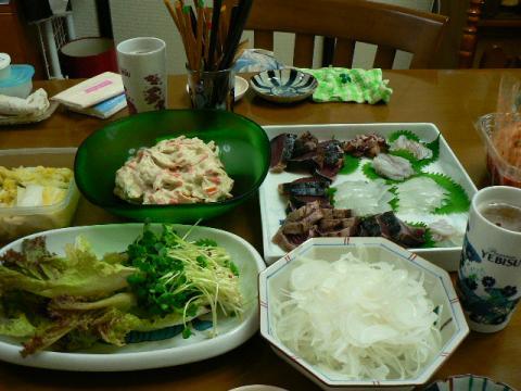 2009年8月14日夕食