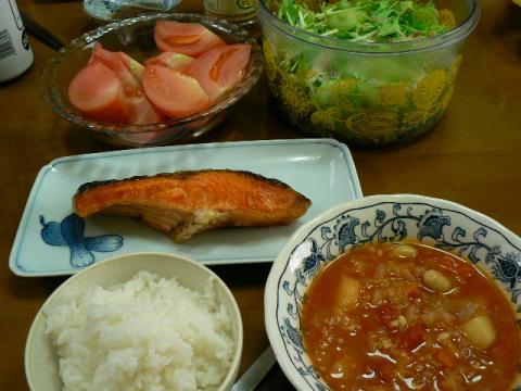 2009年8月18日夕食