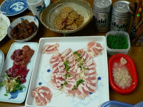 2009年7月23日夕食かしわ祭り