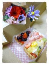 誕生日 ケーキ花束