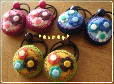 2009.9.お花のヘアゴム 04