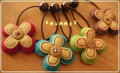 2009.910お花ヘアゴム 01