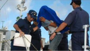 420 年九月,其雄在中日有爭議海域作業被捕。