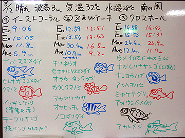 宮古島 ログデータ 2009/8/12