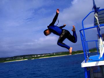 宮古島 水面休息中 飛び込み
