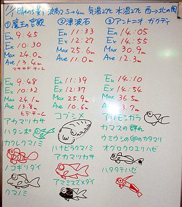 宮古島 ログデータ 2009/11/1