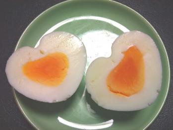 ハートゆで卵