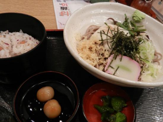 成田空港そじ坊 山菜そば定食