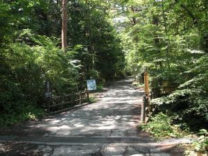 中の茶屋から吉田口登山道