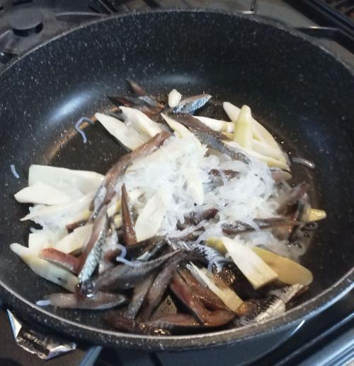 タケノコとみがきにしんの炒め物2