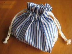 お弁当巾着・海のダブルストライプ1