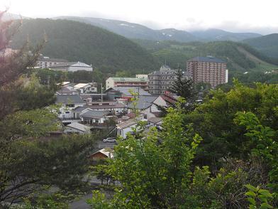 7 ホテルの駐車場より草津温泉